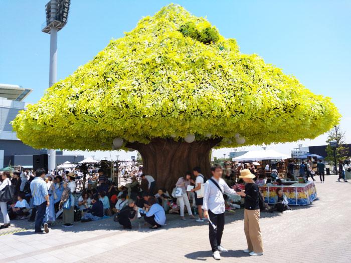 休憩におすすめの木のオブジェ