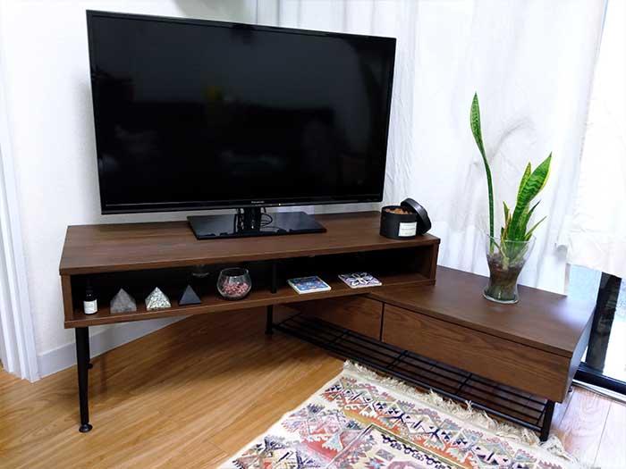 lowya伸縮テレビ台の組立て方