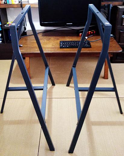 IKEAのテーブル脚(レールベリ架台)