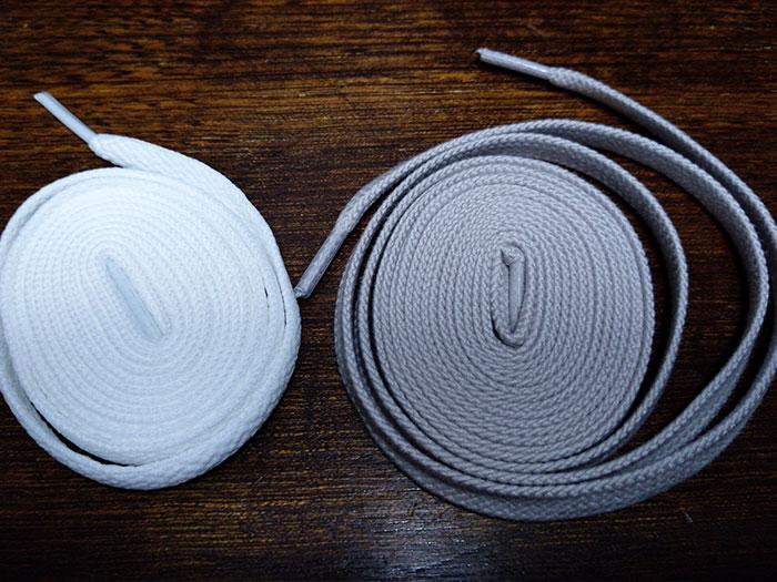 コンバースの靴紐とニューバランスの靴紐