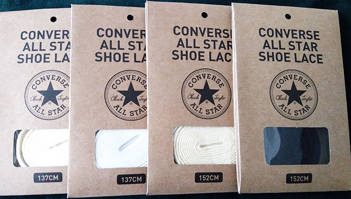 コンバース純正「CONVERSE ALL STAR SHOE LACES」