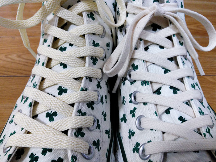 ナチュラルカラーの靴紐比較
