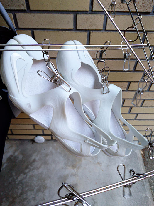 NIKEリフトサンダル(ホワイト)の洗い方