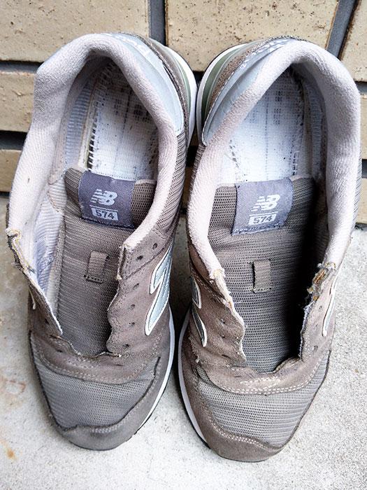 スニーカーを乾燥