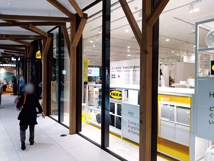 IKEA原宿2階の入り口から入店