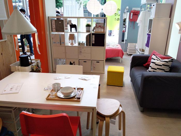 IKEA原宿の展示スペース