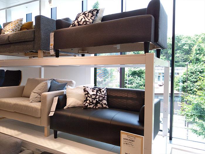 IKEA原宿2階ソファコーナー