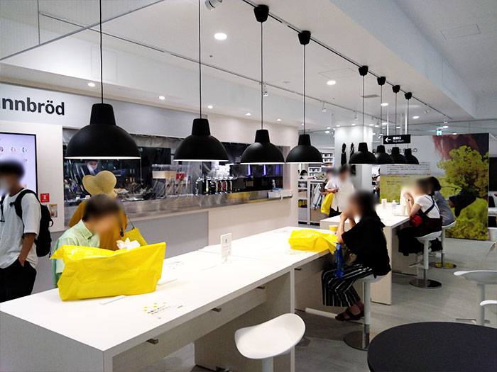 IKEA原宿スウェーデンカフェイートインスペース
