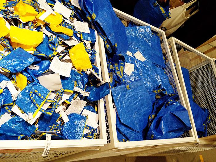 ikeaのリサイクルバッグ類