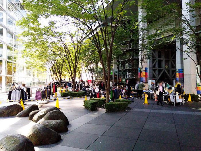 東京国際フォーラムフリマの雰囲気(コロナ後)