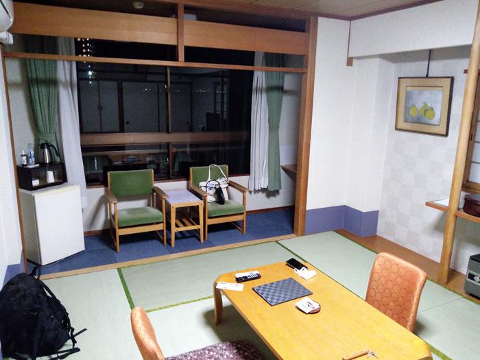 雄琴荘びわ湖側の部屋