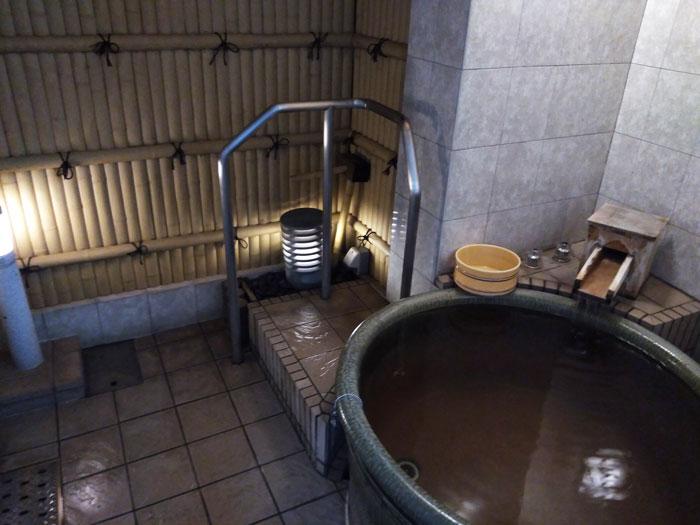 雄琴荘の貸切露天風呂