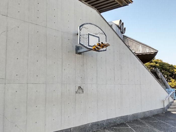 東京体育館に設置されたバスケットゴール
