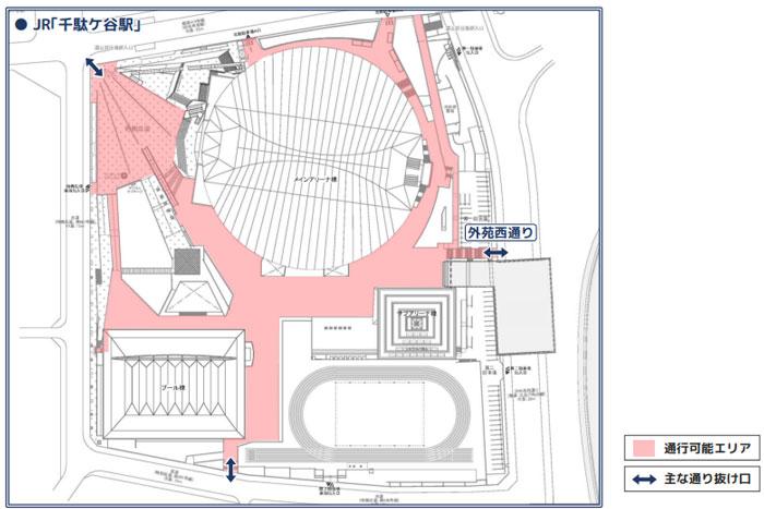 東京体育館開放入り口