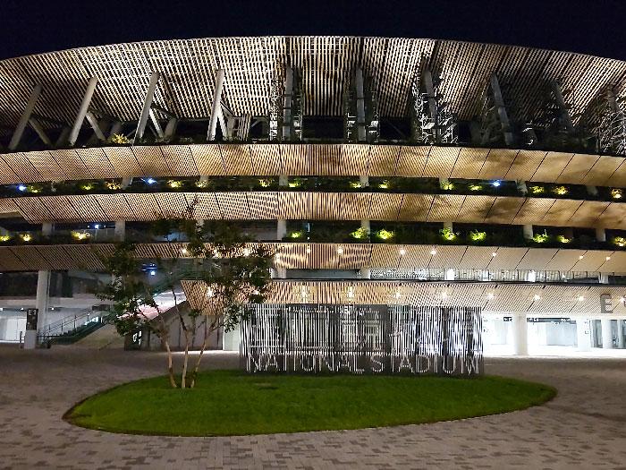 国立競技場ライトアップ